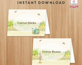 Peter Rabbit Food Label - Printable Food Tent