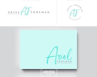 siganture marker logo pen initials businesscards  script simple modern feminine branding- logo Identity artist makeup wedding photographer