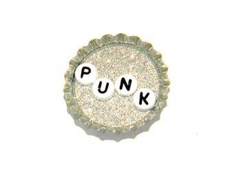 NEW Bottle Cap Magnet - Punk - Single Magnet