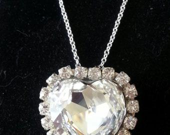 Exquisite Swarovski Austrian Crystal Heart Necklace