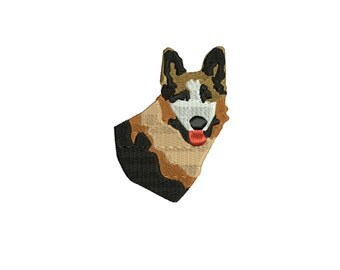 a dog ,German Shepherd  embroidery design