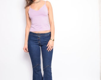 Vintage 90's Lilac Strappy Top / Sleeveless Light Purple Top