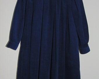 Laura Ashley vintage Edwardian sailor style navy cord girls dress, size 7-8 Yrs