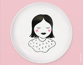 Dream Girl Plate by Mimology