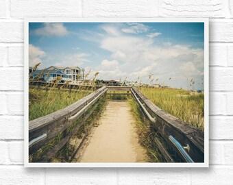 Printable beach photography, Kure beach digital download photography, North Carolina wall art, instant download, printable photography