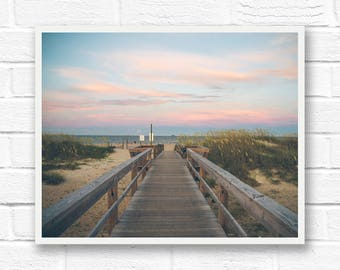 Beach photography wall art, beach print, ocean photography ocean print, beach house print, beach landscape, beach decor Tybee Island Georgia