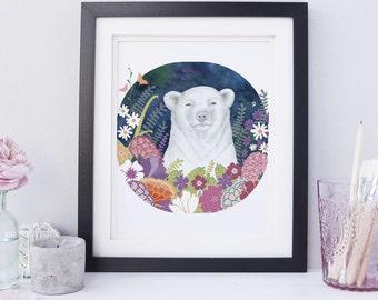 Animal Nursery Print, Animal Nursery Art, Kids Wall Art, Children's Decor, Baby Art, Bear Print, Forest Animal Print, Nursery Wall Art