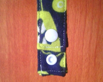 Cozy Cloth Pad Hanger/Drying Strap - Flannel - Ready to Ship
