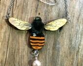Bee necklace, bee jewellery, bee, bee earrings, bee brooch, best friend gift, best friend, spring gift, garden inspired, garden, spring