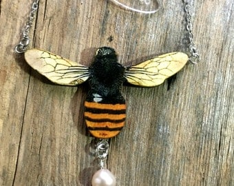 Bee necklace, bee jewellery, bee, bee earrings, bee brooch, best friend gift, best friend, spring gift, garden inspired, garden, spring