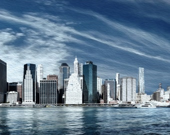 New York Two   Fine Art Print   Modern Urban Cityscape City Skyline Wall Artwork