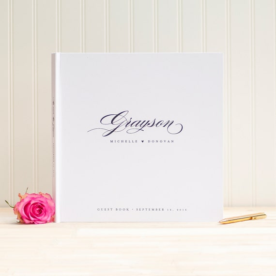 Wedding Guest Book wedding guestbook custom calligraphy 12x12 album personalized instant photo wedding gift sign in hardcover scrapbook new