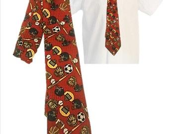 Vintage Boys Tie, Necktie, Boys Accessories, Young Man's, Teen, Sports themed tie, Boy's Accessories, Sports, Vintage Tie, SPOILED KIDS