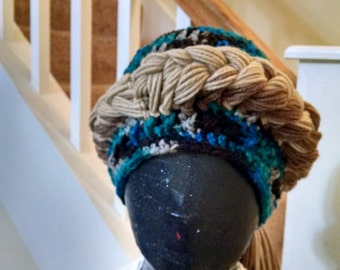 French Braided 'Hair' hat