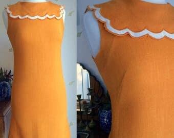 Vintage 1960's Jonathan Logan Petites Orange Dress / Bust 34