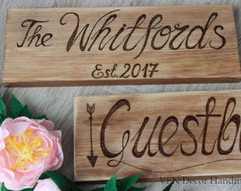 Custom wood signs Etsy