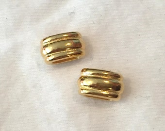 2 TierraCast 6mm Deco Sliders, Gold, flat leather cord, bracelet, finding, jewelry supplies,