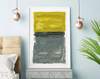 Abstract Acrylic Painting, Yellow And Gray Wall Art, Large Abstract Art, Grey Wall Art, Abstract Acrylic Art, Large Print, Abstract Artwork