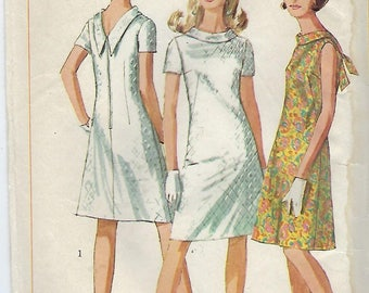 """Simplicity 7129  Juniors' And Misses' Jiffy Dress Size 14   Bust 34"""""""