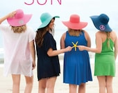 Straw Floppy Hats  - Monogrammed - Perfect Gift for Her!