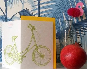 Neon Bike // A6 Greeting Card