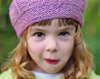 Queenie tam beret PDF knitting pattern (instructions)