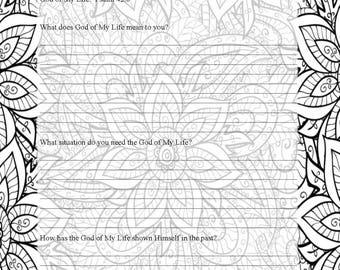 prayer journal coloring pages - photo#31