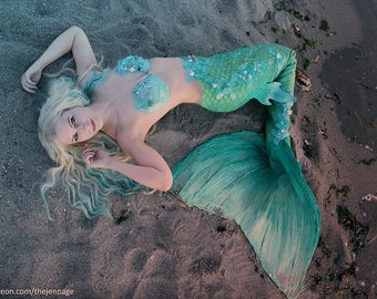 Latex Swimmable Mermaid Tail- handmade
