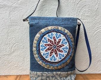 boho bag-kilim bag-tote bag-shoulder bag-cross body bag-handmade-boho-bohemian-boho chic-tribal-boho chic-Medallion