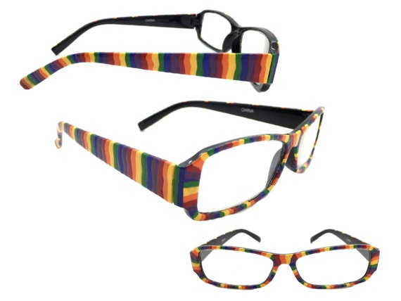 s 2 50 strength painted rainbow reading glasses