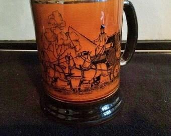 Ye OIde Coaching and Hunting Days Vintage English Arthur Wood Tankard Stein/Goblet Mug 50/60