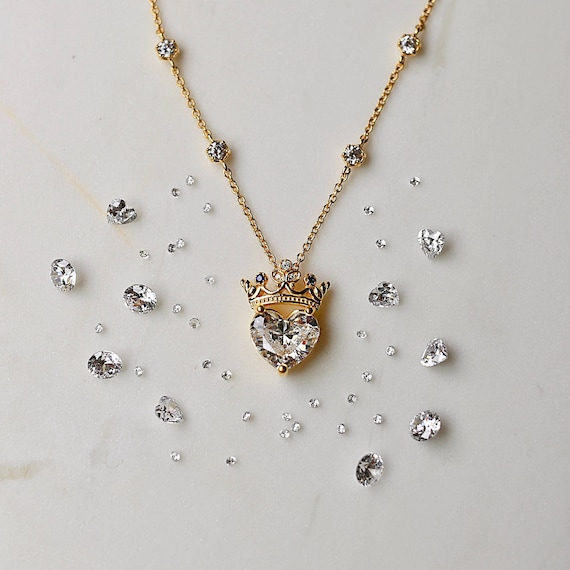 Crown heart necklace queen necklace pendant necklace like this item mozeypictures
