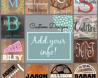 DIY Sign Kit - Wood Sign kit - Custom Sign - Custom wood sign - Sign painting Kit - Stencil kit