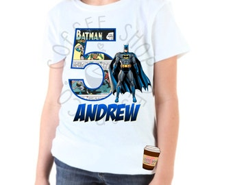 Batman 5th Birthday Iron-on T-shirt