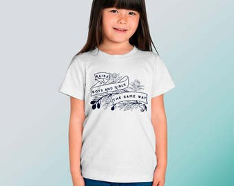 Feminist Shirt (YOUTH) Raise Boys And Girls The Same Way, Feminism Shirt size XS-XL