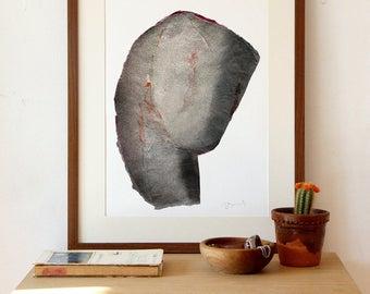 Bent Abstract Head, A3 Art Print, Modern Fine Art, 12x16 Collage