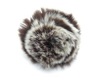 Vintage Mink Puff Brooch, Fur