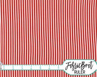 RED & WHITE Tiny STRIPE Fabric by the Yard Fat Quarter Red Stripe Fabric Mini Stripe Apparel Fabric Quilting Fabric 100% Cotton Fabric w5-16