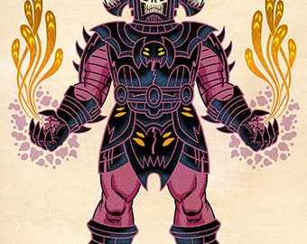 Galactus, Color, 11 x 17 Print by Darryl Young