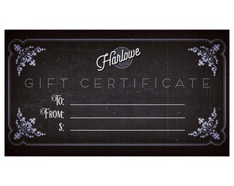 Harlowe Gift Certificate - for any Personalized, Poetic Dog Tag - Free Domestic Shipping!