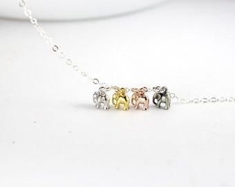 4 babe elephants  Bracelet, Four Sisters Bracelet. 4 Best Friends, .mix color bracelet,4 Kids Mom Bracelet jewelry. babe elephant jewelry.