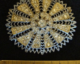 1930s Little Nemo clear rhinestone brooch