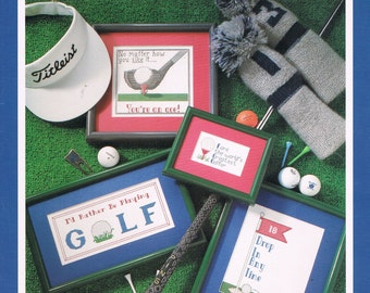 CROSS STITCH PATTERN - Golf Cross Stitch Patterns - Golf Ball - Golf Tee - Sports Cross Stitch Chart - Vintage Cross Stitch