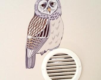 Owl Wall Decal, Woodland Nursery Decor, Forest Decor Nursery, Woodland Nursery Decal, Woodland Baby Shower