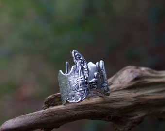 New York Ring/New York Skyline Ring/Skyline Ring/ Spoon Ring/Statue of Liberty Ring/New York City Ring