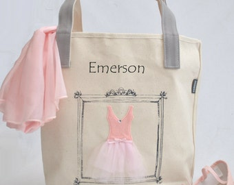 Medium Ballerina Tote, Tutu Ballet Bag, Flower Girl Gifts, Personalized Gifts, Tutu Bag, Ballet Bag, Dance Bag, Personalized Girls Dance Bag