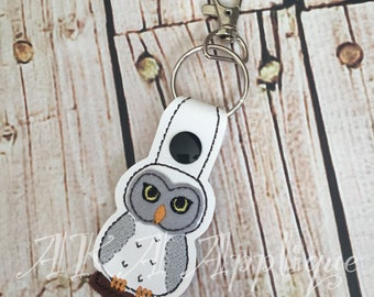 ITH Magical Owl  Snap Fob Embroidery Design