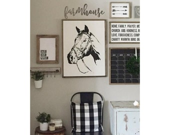 Horse - STENCIL ONLY (as seen on Instagram @ourfauxfarmhouse)