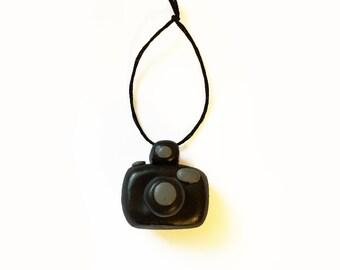 Camera Ornament - Photography Ornament - Polymer Clay Ornament - Photographer Gift - Digital Camera Ornament - Christmas Ornament