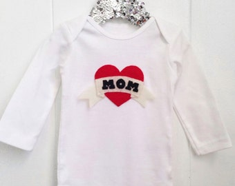 Tattoo Style MOM baby onesie or toddler shirt